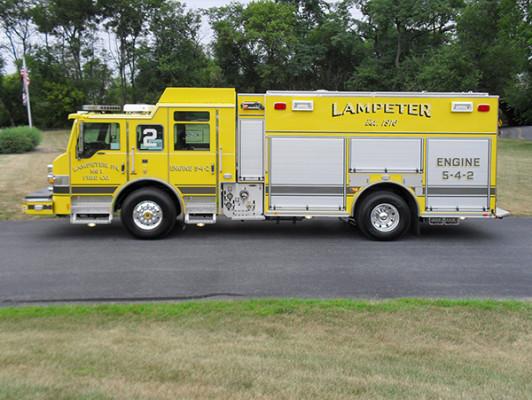 Lampeter FC - Pierce Impel PUC Pumper - Fire Engine - Driver Side
