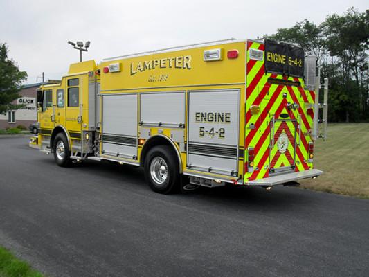 Lampeter FC - Pierce Impel PUC Pumper - Fire Engine - Driver Rear
