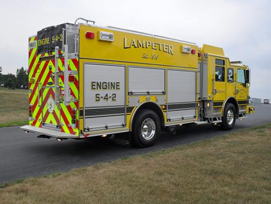 Lampeter FC - Pierce Impel PUC Pumper - Fire Engine - Passenger Rear