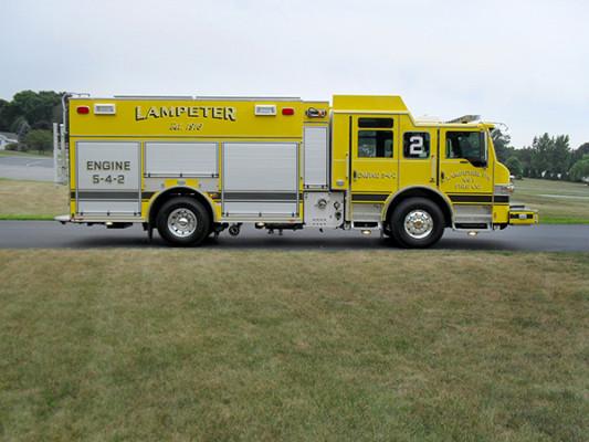Lampeter FC - Pierce Impel PUC Pumper - Fire Engine - Passenger Side