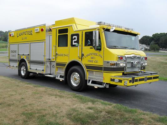 Lampeter FC - Pierce Impel PUC Pumper - Fire Engine - Passenger Front