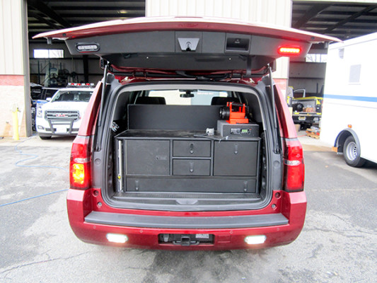 Eagle Hose - First Priority Fire Chief Vehicle - Upfit Conversion Package - Trunk Space