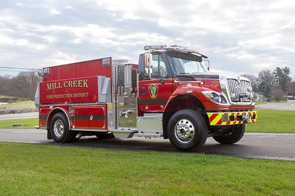 Mill Creek VFC - Pierce International Fire Truck Tanker - Passenger Front