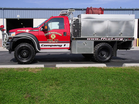 Friendship FC - Firematic BRAT Rally Brush Fire Truck - Driver Side