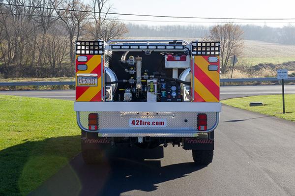 Tunkhannock VFC - Firematic BRAT Rally Brush Fire Truck - Rear