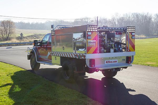 Tunkhannock VFC - Firematic BRAT Rally Brush Fire Truck - Driver Rear