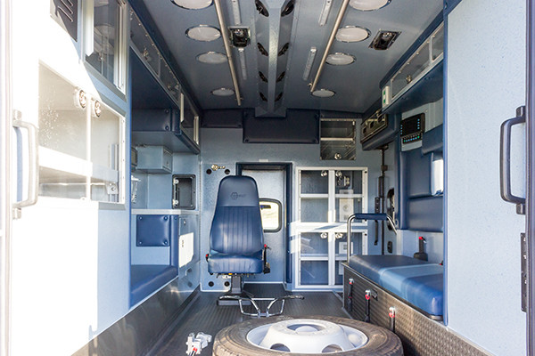 Braun Liberty Type I Ambulance - Ford F450 4x4 Chassis - Interior