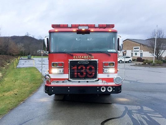 Pierce Saber FR - Rescue Pumper Fire Truck - Engine 18 - Front