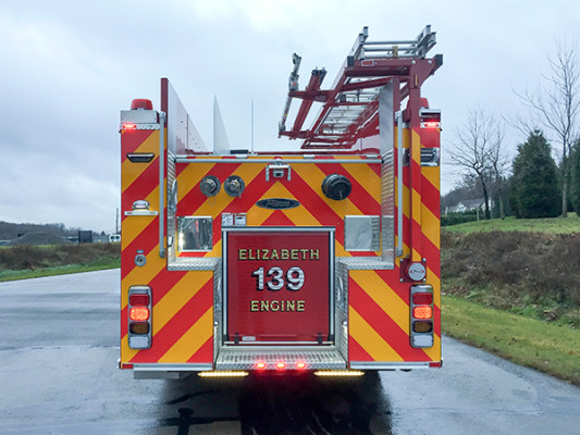 Pierce Saber FR - Rescue Pumper Fire Truck - Engine 18 - Rear