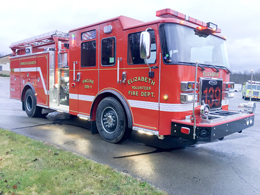 Pierce Saber FR - Rescue Pumper Fire Truck - Engine 18 - Passenger Front