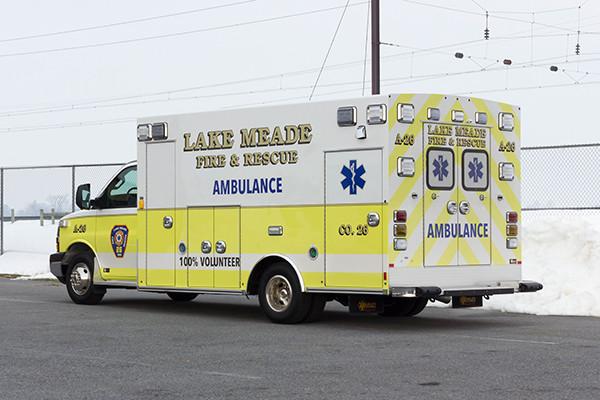 Lake Meade F&R - Braun Chief XL Type III Ambulance - Driver Rear