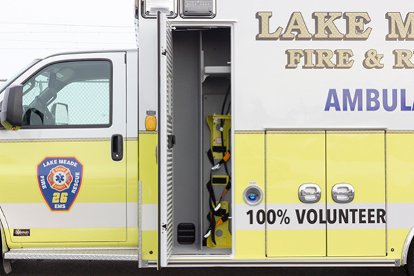 Lake Meade F&R - Braun Chief XL Type III Ambulance - Oxygen Tank Storage