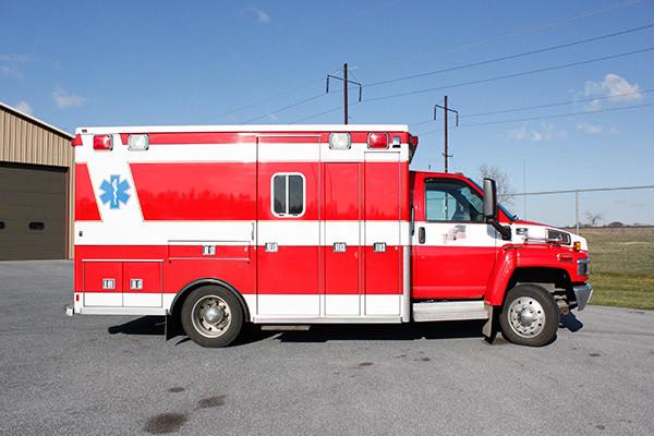 used 2006 Life Line medium duty ambulance for sale - passenger side