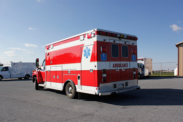 used 2006 Life Line medium duty ambulance for sale - driver rear