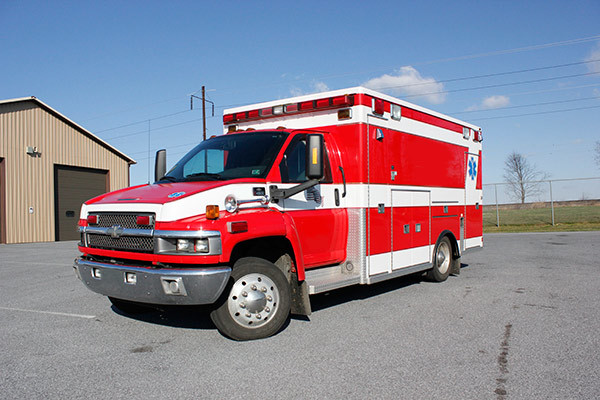 used 2006 Life Line medium duty ambulance for sale - driver front