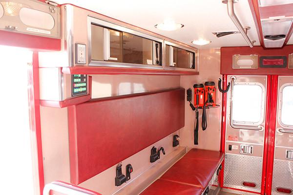 used 2006 Life Line medium duty ambulance for sale - module interior passenger side