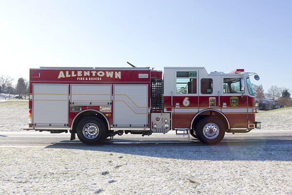 Allentown FD - Pierce Arrow XT PUC Pumper - Fire Engine - passenger side