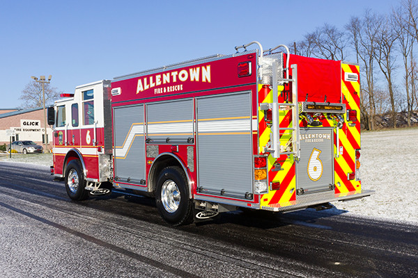 Allentown FD - Pierce Arrow XT PUC Pumper - Fire Engine - driver rear