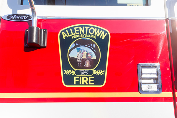Allentown FD - Pierce Arrow XT PUC Pumper - Fire Engine - badge