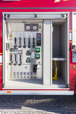 Allentown FD - Pierce Arrow XT PUC Pumper - Fire Engine - compartment pump panel