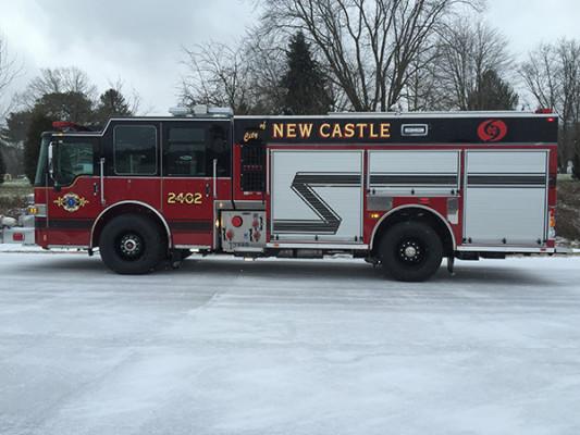 New Castle FD - Pierce Dash CF PUC Rescue Pumper - Fire Engine - driver side