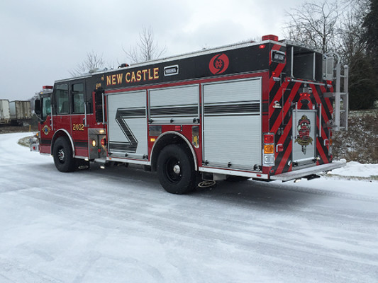 New Castle FD - Pierce Dash CF PUC Rescue Pumper - Fire Engine - driver rear