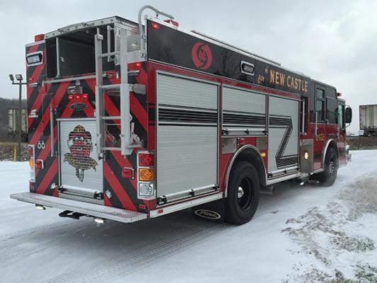 New Castle FD - Pierce Dash CF PUC Rescue Pumper - Fire Engine - passenger rear