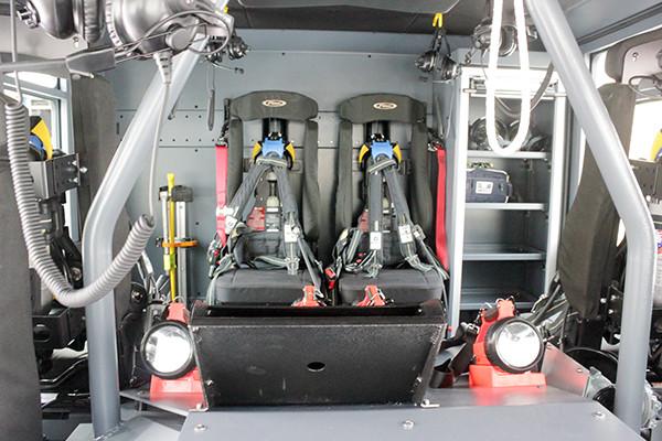Marysville FC - Pierce Enforcer Tanker Pumper - Fire Engine - crew interior