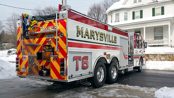 Marysville FC - Pierce Enforcer Tanker Pumper - Fire Engine - passenger rear