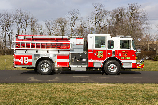 Swatara Twp - Pierce Arrow XT Pumper - Fire Engine - passenger side