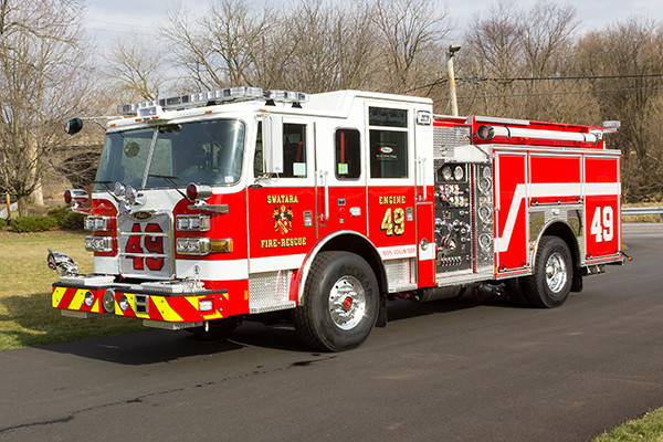 Swatara Twp - Pierce Arrow XT Pumper - Fire Engine - driver front