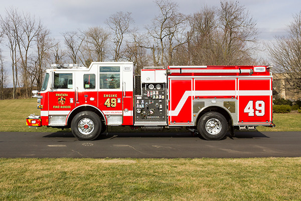 Swatara Twp - Pierce Arrow XT Pumper - Fire Engine - driver side