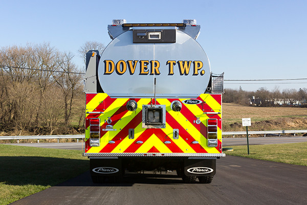 Dover Twp. FD - Pierce Kenworth Commercial Tanker Fire Truck - rear