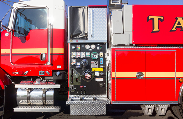 Dover Twp. FD - Pierce Kenworth Commercial Tanker Fire Truck - Pump Panel