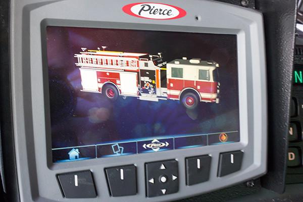 Fire Truck - 2016 Pierce Velocity Mid-Mount Aerial Platform - Alpha Fire Company - Command Zone