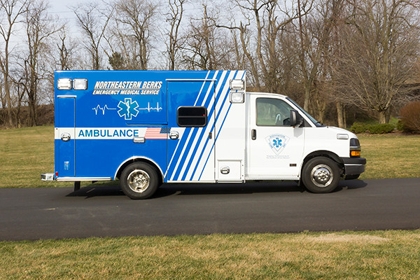 Northeastern Berks EMS - Braun Express Type III Ambulance - passenger side