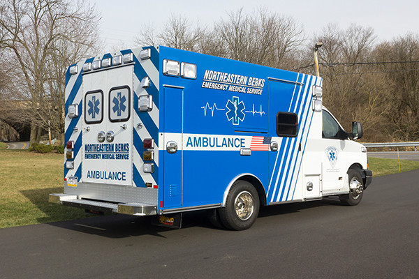 Northeastern Berks EMS - Braun Express Type III Ambulance - passenger rear