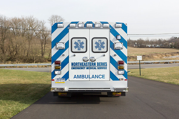 Northeastern Berks EMS - Braun Express Type III Ambulance - rear