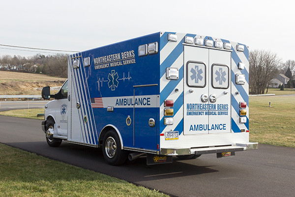 Northeastern Berks EMS - Braun Express Type III Ambulance - driver rear