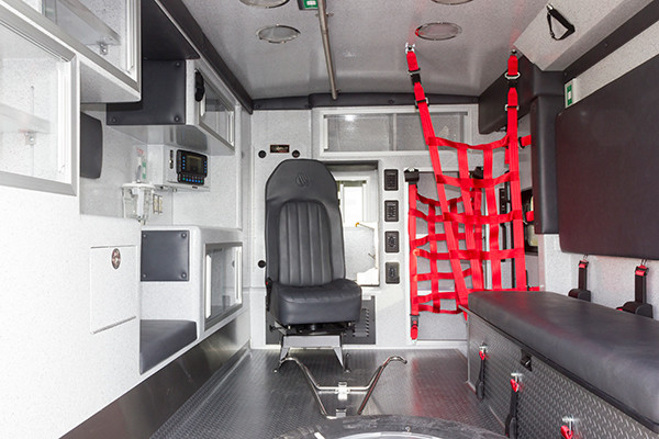Northeastern Berks EMS - Braun Express Type III Ambulance - interior rear
