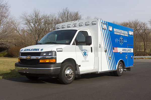 Northeastern Berks EMS - Braun Express Type III Ambulance - driver front