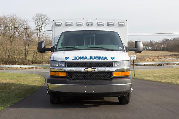 Northeastern Berks EMS - Braun Express Type III Ambulance - front