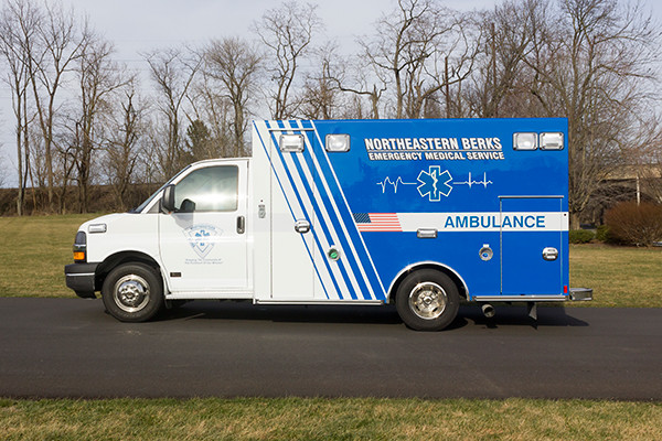 Northeastern Berks EMS - Braun Express Type III Ambulance - driver side