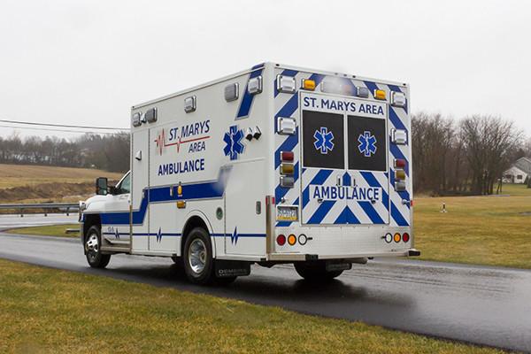 St. Marys Area - Demers MXP-150 Type I Ambulance - driver rear