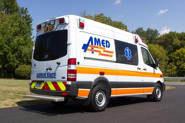 AMED - Demers Mirage EXE Type II Ambulance - Mercedes Sprinter - passenger rear