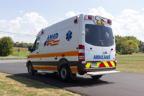 AMED - Demers Mirage EXE Type II Ambulance - Mercedes Sprinter - driver rear