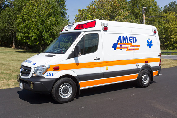 AMED - Demers Mirage EXE Type II Ambulance - Mercedes Sprinter - driver front