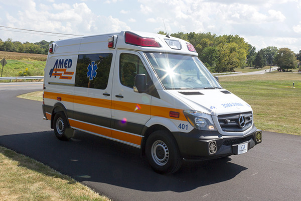 AMED - Demers Mirage EXE Type II Ambulance - Mercedes Sprinter - passenger front