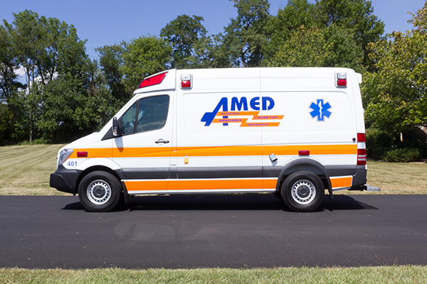 AMED - Demers Mirage EXE Type II Ambulance - Mercedes Sprinter - driver side