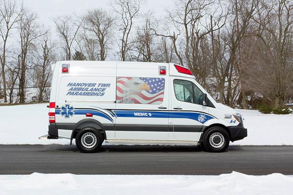 Hanover Twp - Demers EXE Type II Ambulance - passenger side